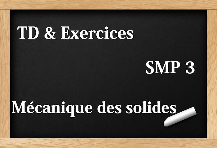 TD et Exercices corrigés Mécanique du solide  SMP S3 PDF