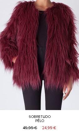 Casaco pêlo 24,99€