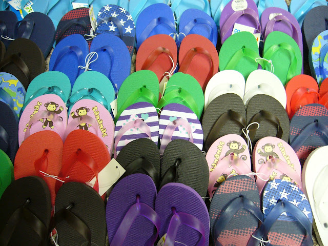 Flip flops clearance sales help fill Operation Christmas Child shoeboxes.