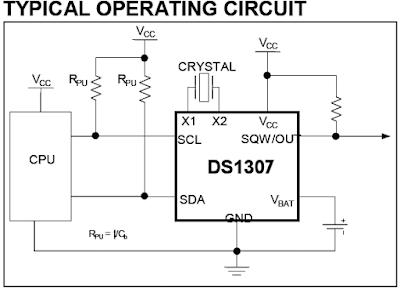 DS1307 RTC circuit