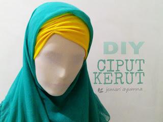 DIY inner hijab kerut