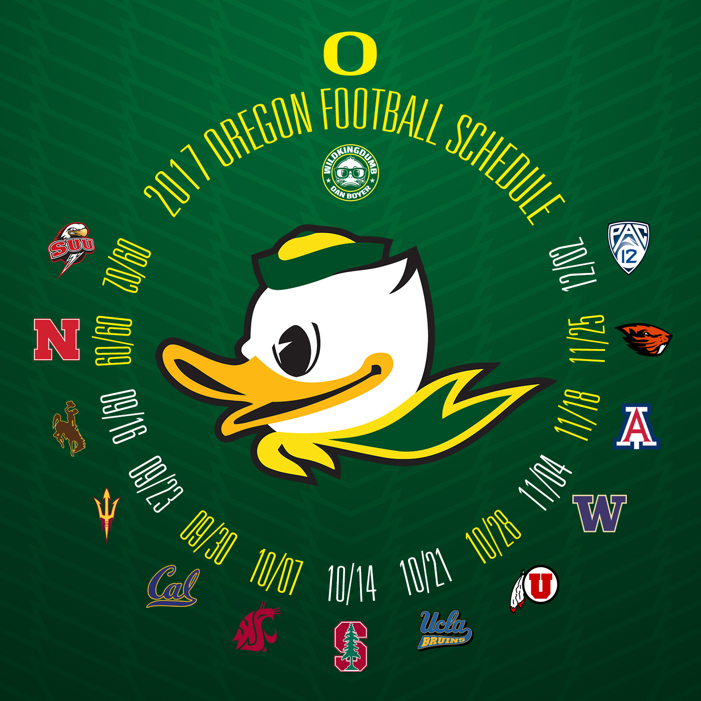 Oregon Ducks Backgrounds: Wild Kingdumb: January 2017