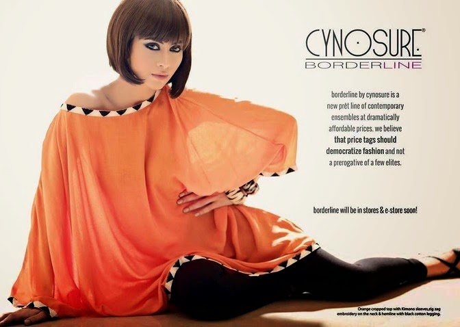 Latest Cynosure Border Line Summer Collection 2014 For girls