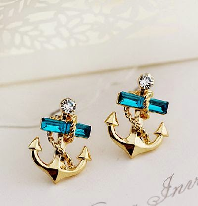 The Navy Wind Gem Diamond Stud Earr