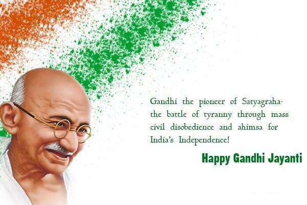 Gandhi Jayanti Speech in Hindi