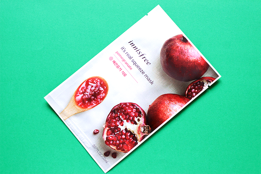 Innisfree It's Real Squeeze Mask Pomegranate review
