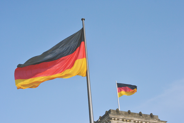 German flags flying