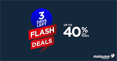 Malaysia Airlines Air Fare Flight Ticket Discount Flash Deals