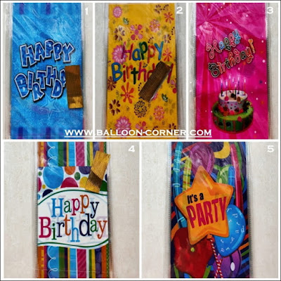 Plastik Pembungkus Snack Motif HAPPY BIRTHDAY Ukuran Sedang