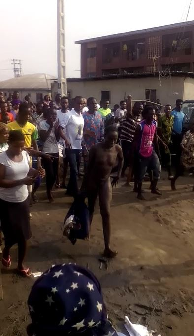 Viral Video Of Suspected Kidnapper Stripped Unclad And Tortured