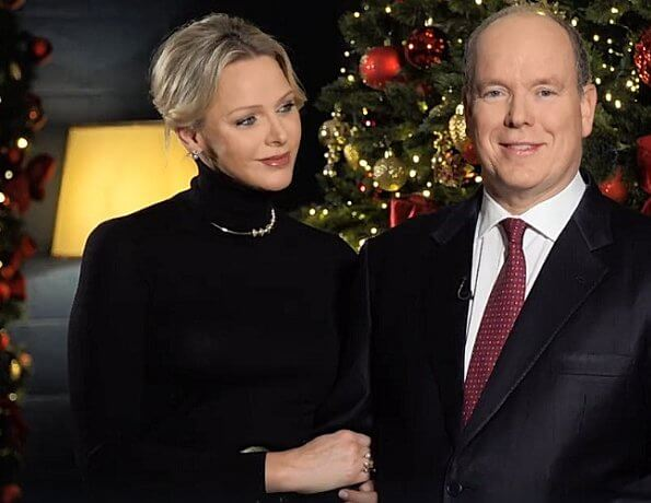 Prince Albert and Princess Charlene of Monaco shared a video on Facebook on the occasion of the new year