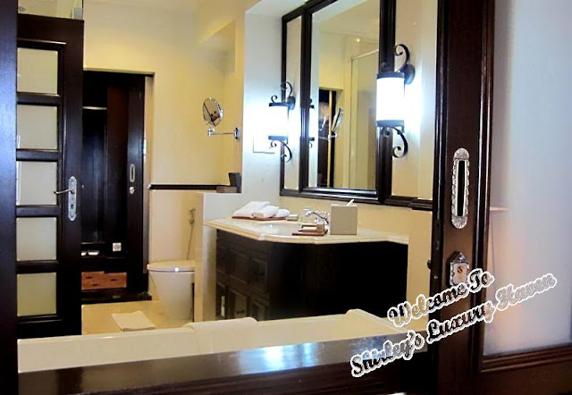 luxuriously appointed bathrooms feature