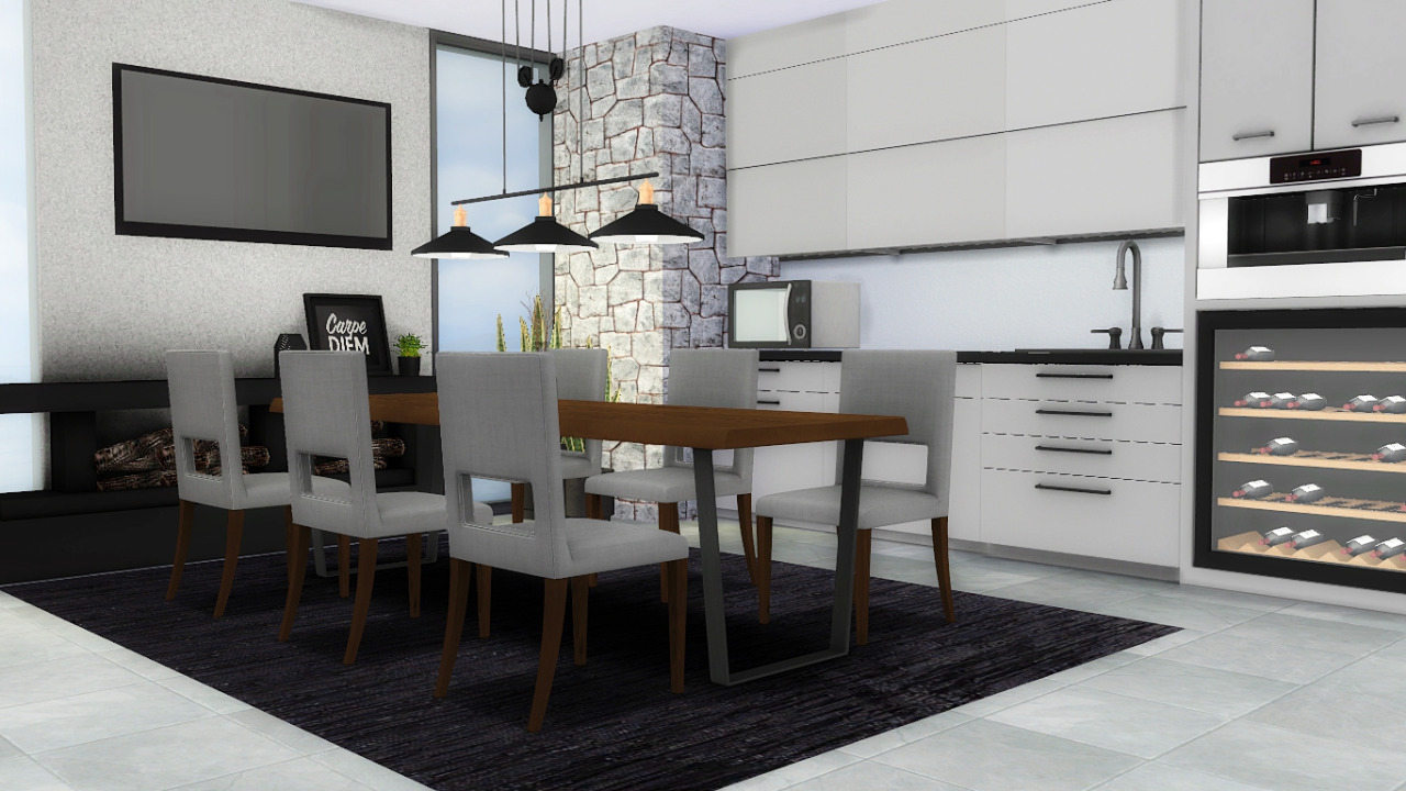 Sims Kitchen My Sims 4 Blog Forest Hill Kitchen And Dining Set By Mxims