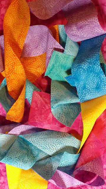 Wonky Donkey quilt with Island Batik Paisley Dot fabrics