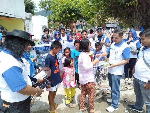 DPC Peradi Bandar Lampung Beri Bantuan Kepada Korban Tsunami Lamsel