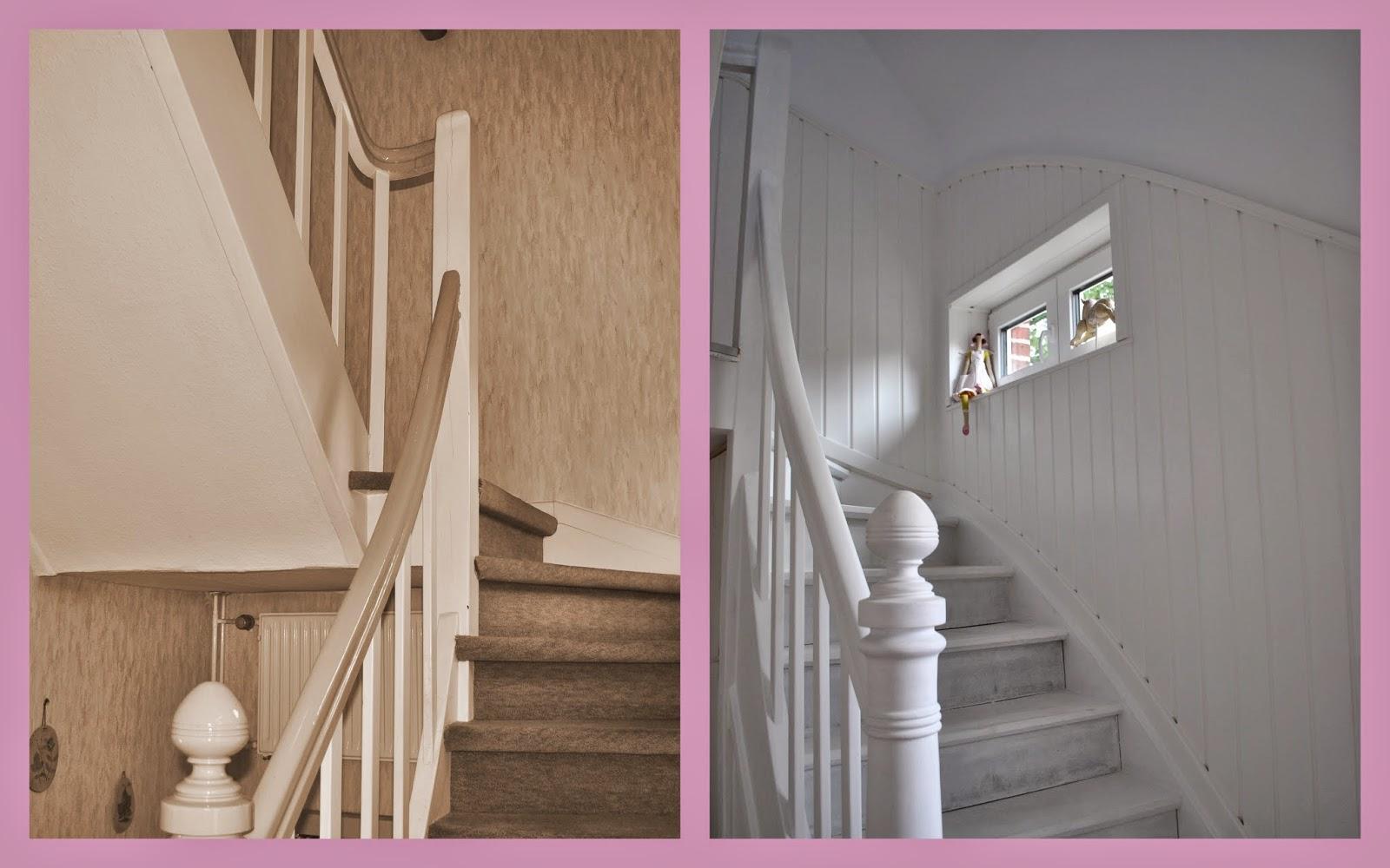 holztreppe streichen treppe streichen vorher nachher with. Black Bedroom Furniture Sets. Home Design Ideas