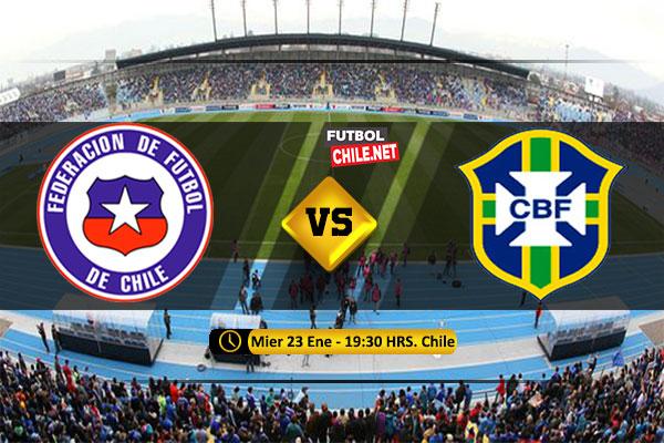 Mira Chile vs Brasil en vivo y online por la Fecha 4 del Sudamericano Sub-20
