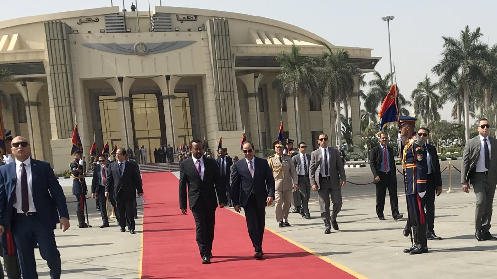<Sisi asks Ethiopia PM to swear to God that dam project will not hurt Egypt