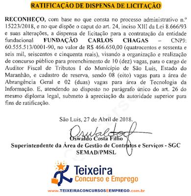 Concurso da Prefeitura de São Luís - MA