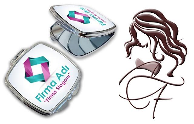 firmalara özel logolu makyaj aynası