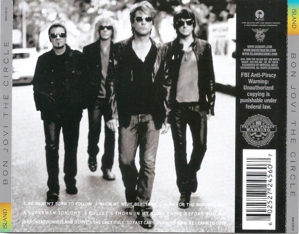 Bon Jovi - Albums Contraportada