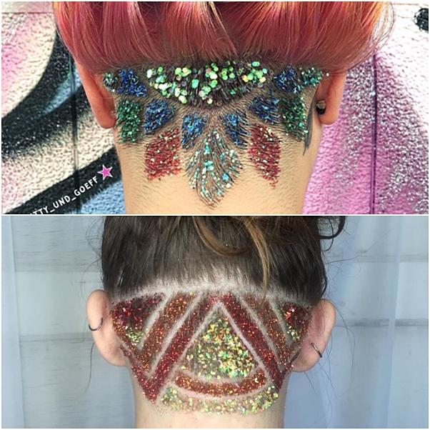 como usar glitter no cabelo