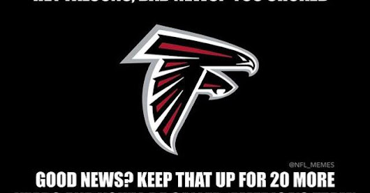 "hey #falcons, #badnews? you choked good news? keep that up for 20 more years and you'll be called ""america's team"""