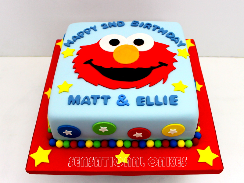 The Sensational Cakes ELMO THEME CRAFTED 3D CAKE SINGAPORE