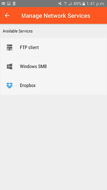 N file manager Android file explorer dropbox cloud service