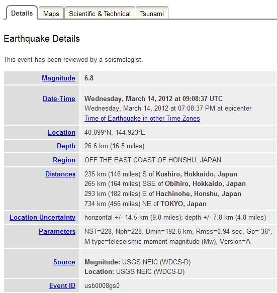 gegevens aardbeving