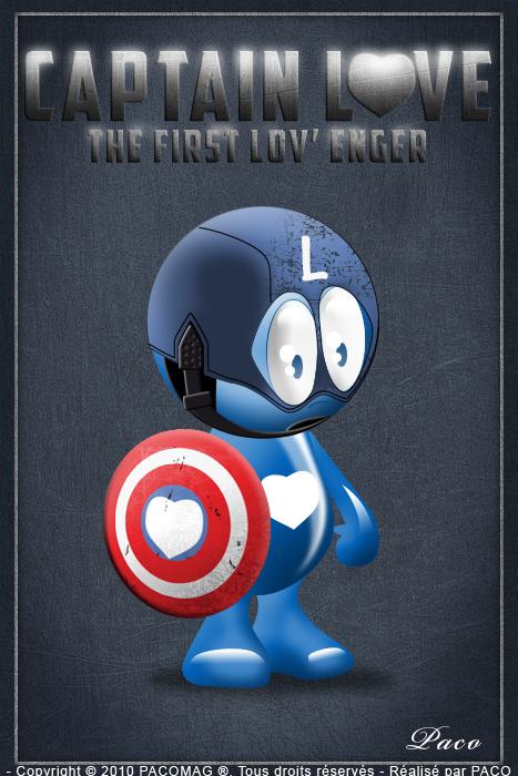 petit personnage bleu Captain Love