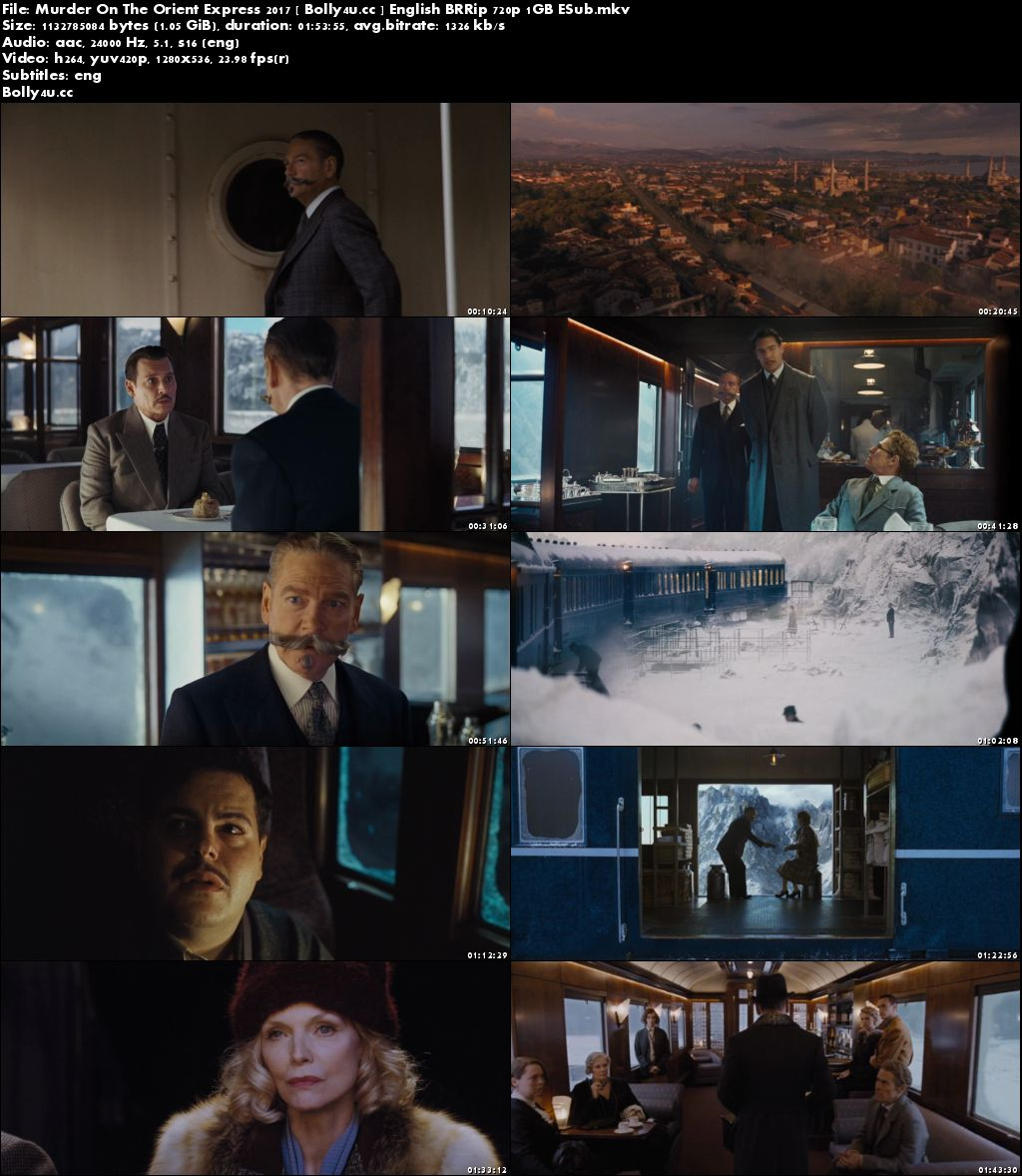 Murder On The Orient Express 2017 BRRip 350Mb English 480p ESub Download