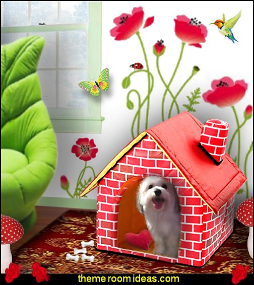 Brick Pet Dog House Cat Bed  pet gift ideas - gifts for pets - gifts for dogs - gifts for cats - creative gifts for animal lovers‎ - gifts for pet owners pet stuff - cool stuff to buy - pet supplies - pet cookie jars - dog throw pillows - dog themed bedding - cat throw pillows - paw pillows - gifts for cat loving friends - gifts for dog loving friends