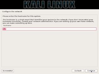 tahap konfigurasi network setelah terdeteksi