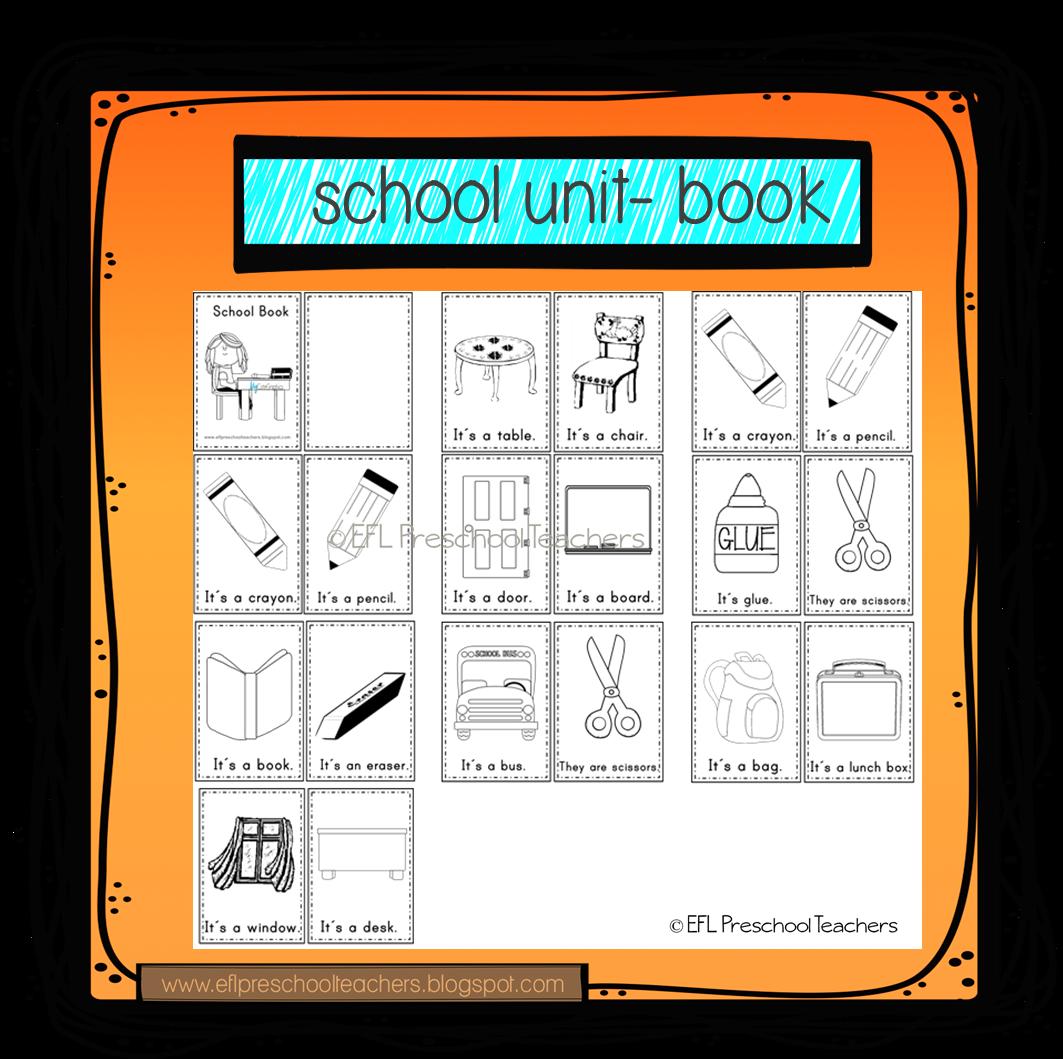 Esl Efl Preschool Teachers School Theme For Preschool Ell
