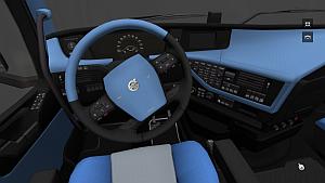 Sky Blue interior for new Volvo FH