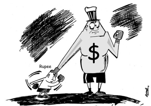 Cartoon Dollar Vs Rupee Cartoon Pk