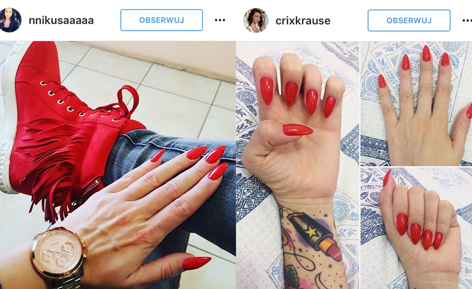 Czerwone Paznokcie Najbardziej Seksowne Eleganckie I Kobiece