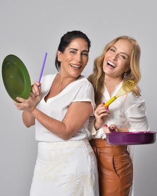 Glória Pires e Angélica na gravação de fim de ano da Globo — Foto: Fábio Rocha/ TV Globo