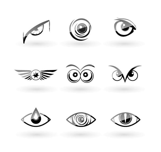 Black Owl Eyes Design Free Vector
