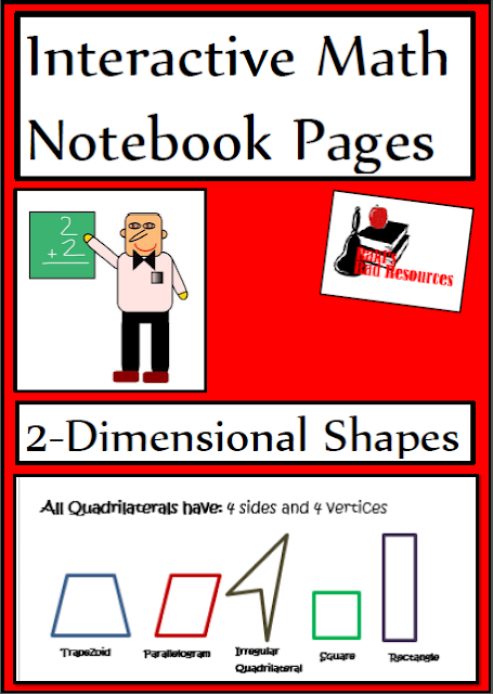 2-dimensional shapes interactive notebook pages - includes reference page and reflection options. Geometry resource from Raki's Rad Resources