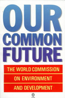 Forside Our common future, Brundtlandrapporten.