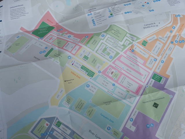 The show map and exhibitors/talks listing