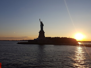 statue of liberty from the sea
