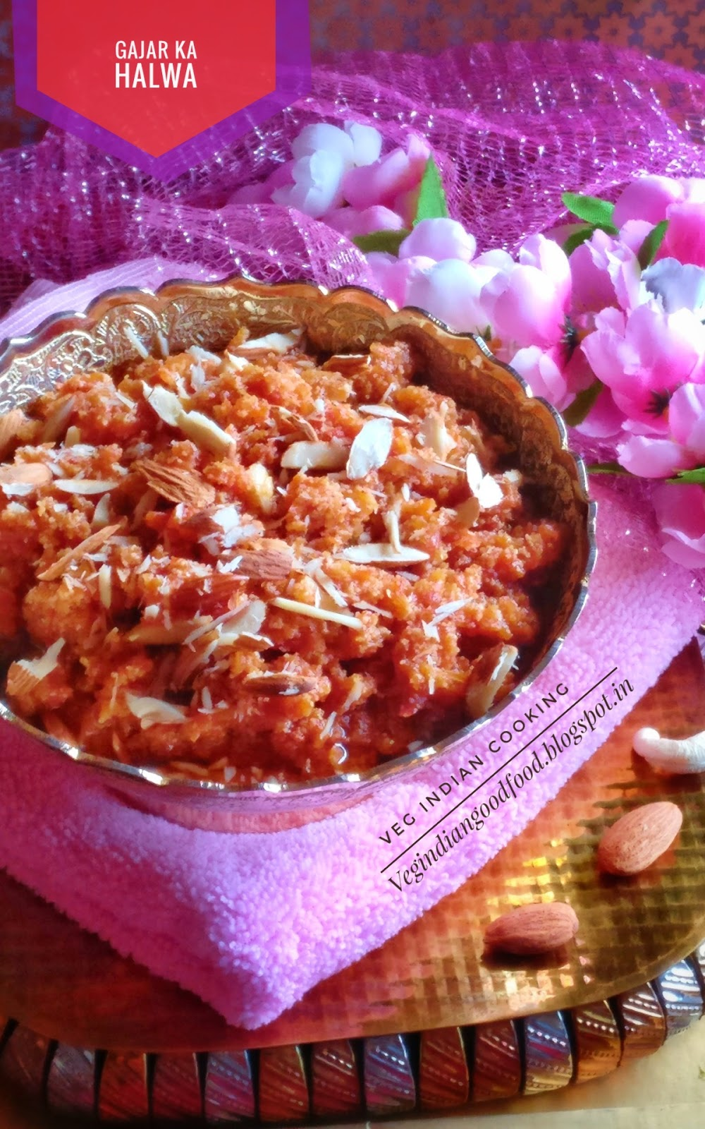 Veg indian cooking gajar ka halwa gajar ka halwa is the most popular indian dessert made during the winter months it is prepared by cooking grated red carrots with ghee milk khoya sugar forumfinder Gallery
