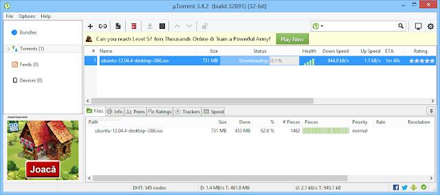 تحميل برنامج التورنت الاصدار الاخير مجانا µTorrent 3.4