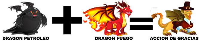 como sacar al dragon accion de gracias en dragon city