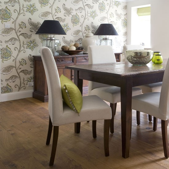 Home Design Ideas Elevation: Dining Room Wallpaper Ideas