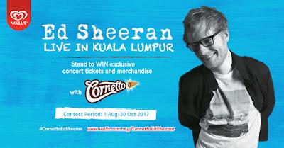 tiket percuma ed sheeran , cara dapat tiket percuma ed sheeran , konsert ed sheeran , ed sheeren di malaysia ,nuffnang cornetto ed sheeran