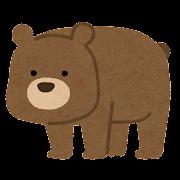 熊のキャラクター(四つ足)